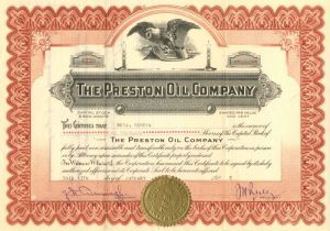 Preston Oil Company - Stock Certificate