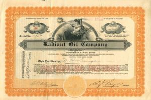 Radiant Oil Company - Stock Certificate