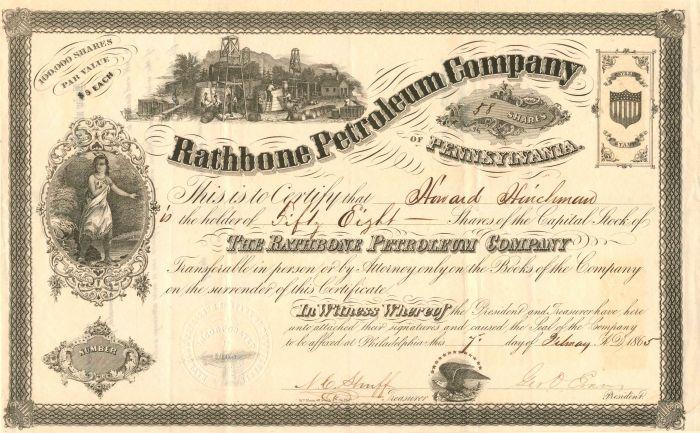 Rathbone Petroleum Company of Pennsylvania - Stock Certificate