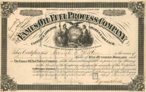 Eames Oil Fuel Process Company - Stock Certificate