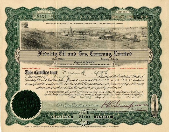 Fidelity Oil and Gas, Company, Limited