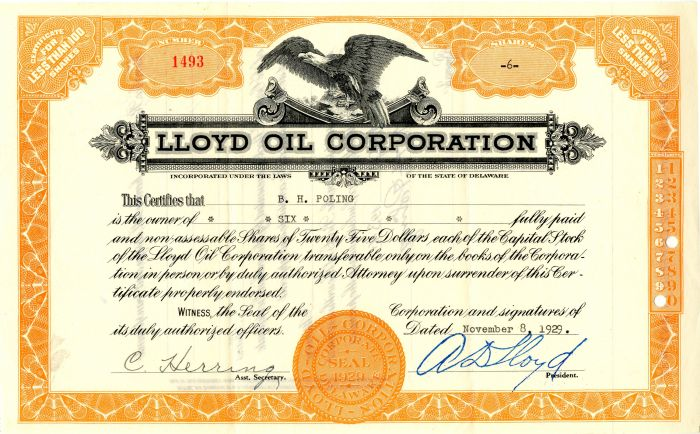 Lloyd Oil Corporation
