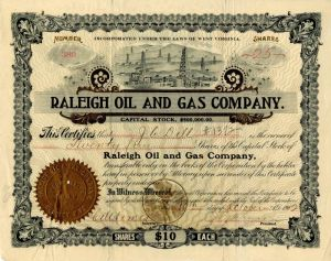 Raleigh Oil and Gas Company - SOLD