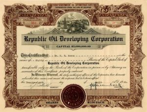 Republic Oil Developing Corporation
