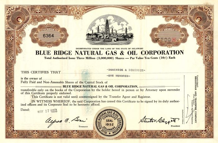 Blue Ridge Natural Gas & Oil Corporation