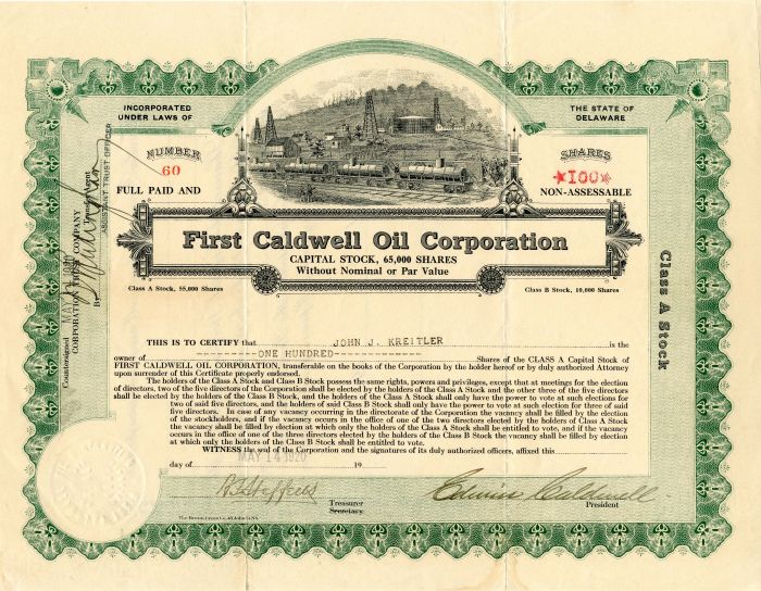 First Caldwell Oil Corporation