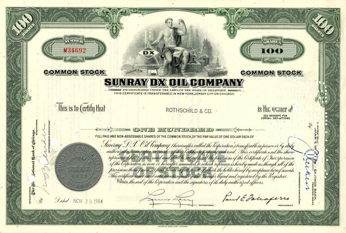 Sunray DX Oil Company - SOLD