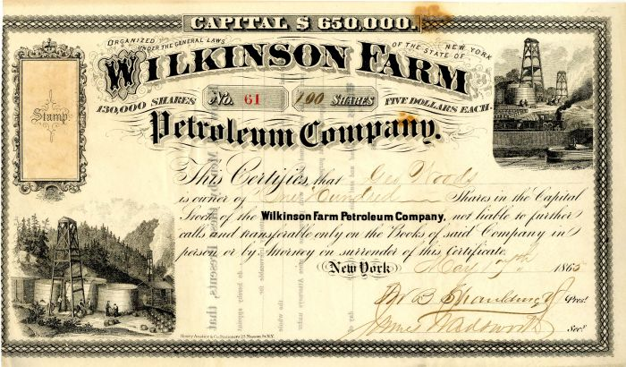 Wilkinson Farm Petroleum Company