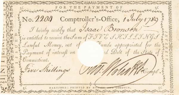 Oliver Wolcott Jr - Interest Paying Note
