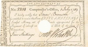 Oliver Wolcott Jr - Interest Paying Note - SOLD