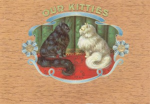 "Cigar Box Label ""Our Kitties"""