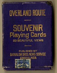 Overland Route Playing Cards - SOLD