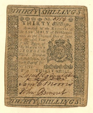 Colonial Currency - FR PA-179 - SOLD
