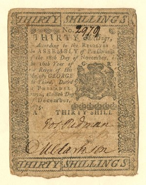 Colonial Currency - FR PA-195