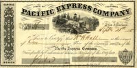 Pacific Express Company - Stock Certificate