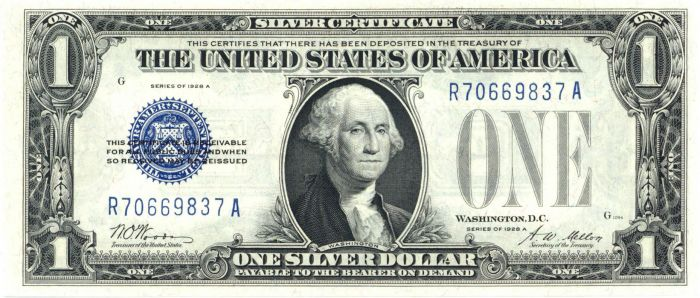 """Funny Back"" Silver Certificate - FR-1601"
