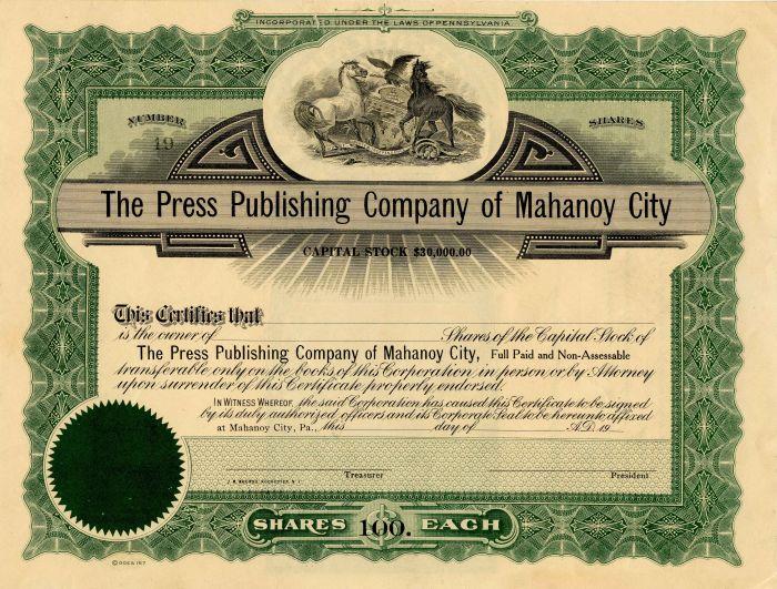 Press Publishing Company of Mahanoy City