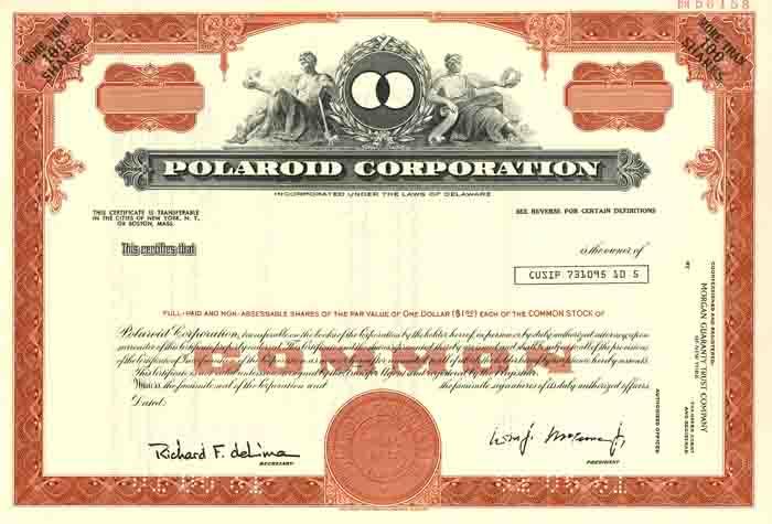 Polaroid Corporation - Specimen