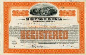 Pennsylvania Railroad Company - $5,000 Bond