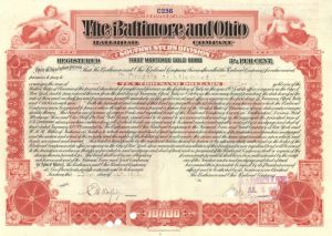 Baltimore and Ohio Railroad Company Issued to Knights of Columbus - Bond