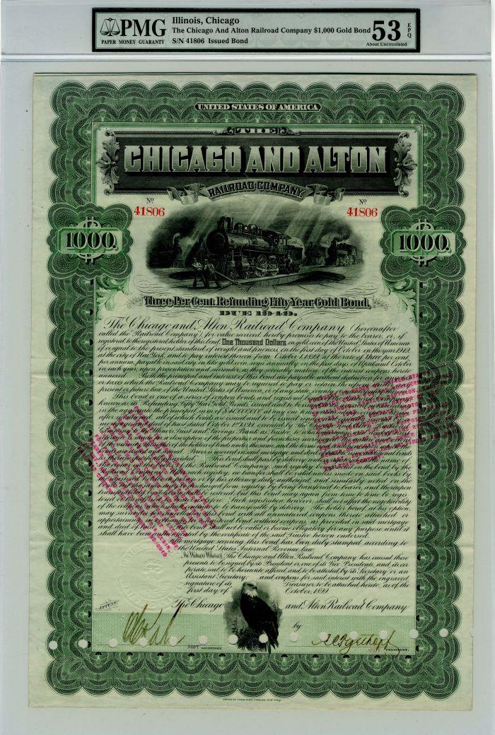 Chicago and Alton Railroad Company - $1000 Bond