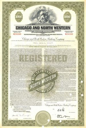 Chicago and North Western Railway Company - Bond