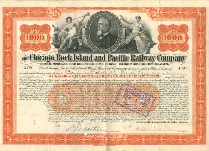 Chicago, Rock Island & Pacific Railway Company - $1,000 - Bond