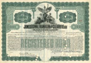 Jamestown, Franklin and Clearfield Railroad Company - Various Denominations - Bond