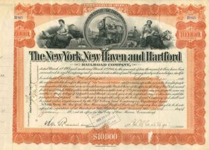 New York, New Haven and Hartford Railroad Company - $10,000 - Bond