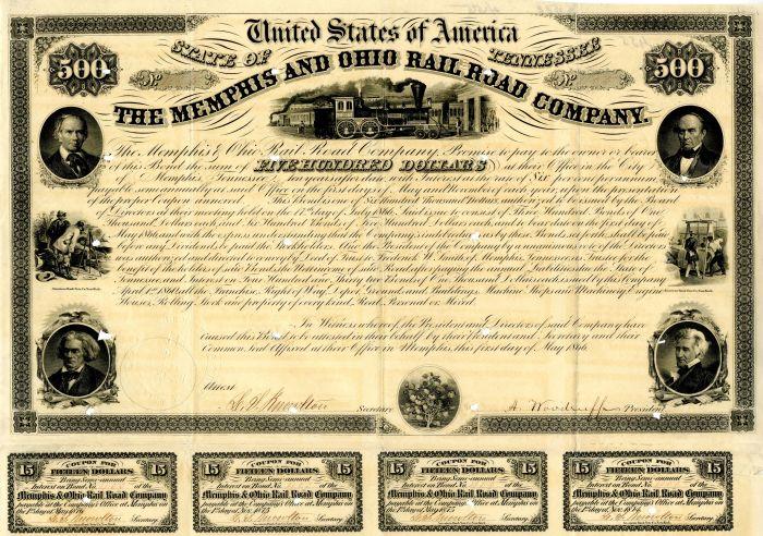 Memphis and Ohio Rail Road Company - $500