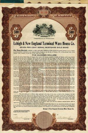 Lehigh Valley Harbor Terminal Railway Company Bond Certificate