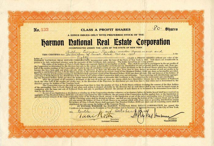 Harmon National Real Estate Corporation