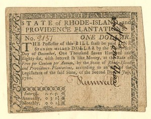 Colonial Currency - FR RI-282