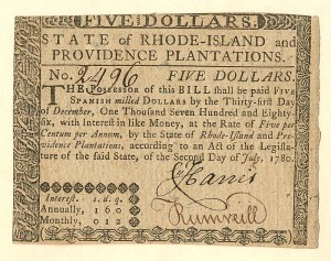Colonial Currency - FR RI-286