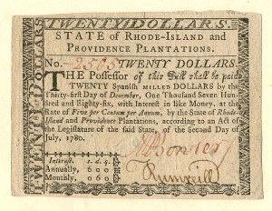 Colonial Currency - FR RI-289