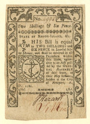 Colonial Currency - FR RI-293 - SOLD