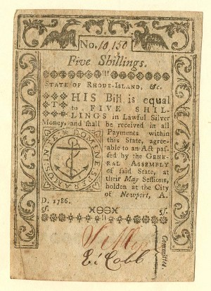 Colonial Currency - FR RI-295 - SOLD