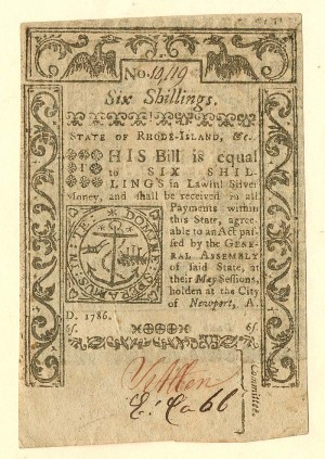 Colonial Currency - FR RI-296