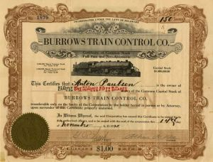 Burrows Train Control Company