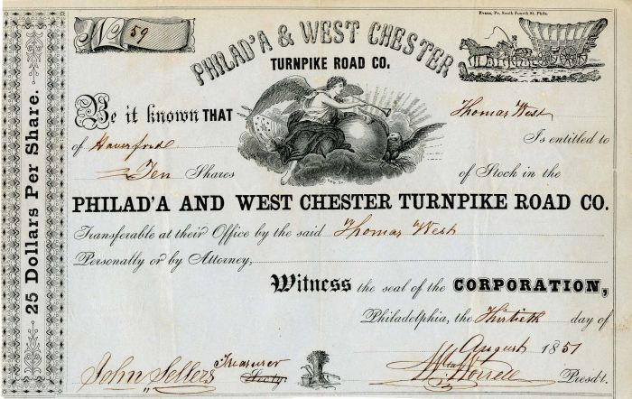 Philad'A and West Chester Turnpike Road Co.