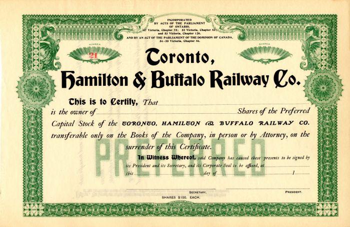 Toronto, Hamilton and Buffalo Railway Co.