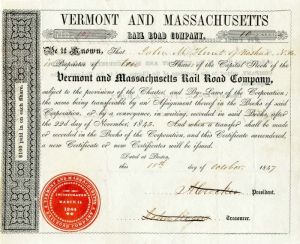 Vermont and Massachusetts Rail Road Company