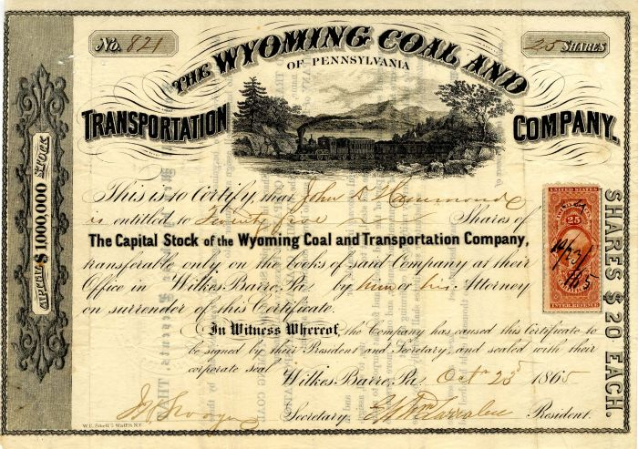 Wyoming Coal and Transportation Company of Pennsylvania