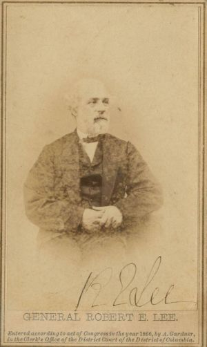 Robert E Lee signed CDV - SOLD