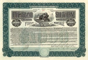 Rock Island Southern Railroad Company - $1,000 - Bond