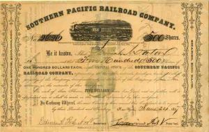 Southern Pacific Railroad Company - SOLD