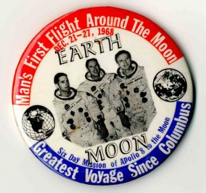 Man's First Flight Around the Moon Pin