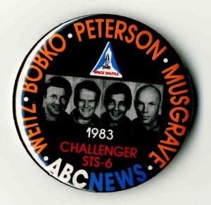 Challenger STS-6 Pin