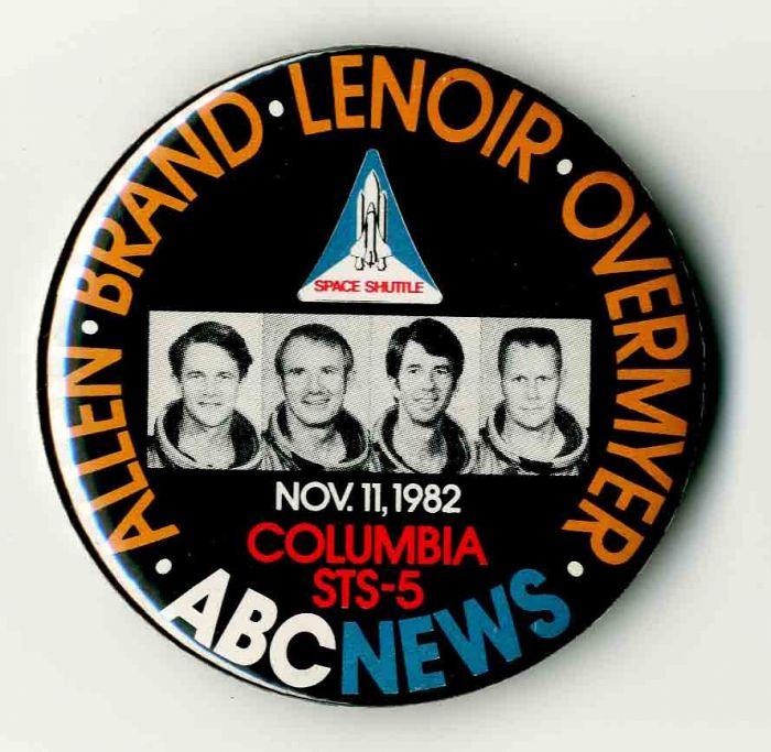 Columbia STS-5 Pin