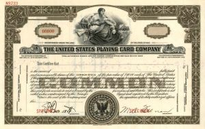 United States Playing Card Company - Specimen  - Stock Certificate